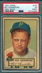 1952 Topps #167 Bill Howerton PSA 3 (MC) *Gray Back*