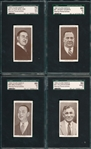 1938 Churchmans Boxing Personalities, Lot of (4), SGC