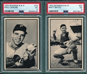 1953 Bowman B & W, Lot of (6) W/ #19 LaPalme PSA