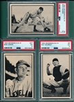 1953 Bowman B & W, #6 Murray, #8 Suder & #27 Bob Lemon, Lot of (3) PSA 5