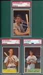 1953/54 Bowman Lot of (3) W/ Schoendienst PSA