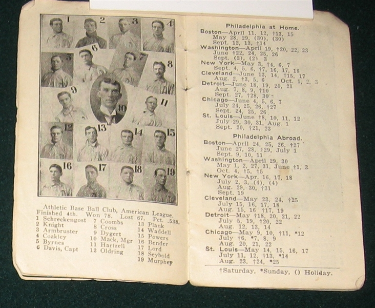 1908-13 Sporting Life Major League Baseball schedules