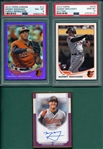 2013/17 Topps Manny Machado, Rookie & Autograph, Lot of (3) PSA