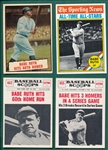 1961-90s Lot of (15) Babe Ruth Cards