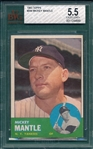 1963 Topps #200 Mickey Mantle BVG 5.5