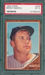 1962 Topps #200 Mickey Mantle PSA 5
