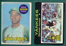 1969 Topps #260 R. Jackson, & 1971 #5 Munson, Lot of (2), *Rookie*