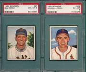 1950 Bowman #87 Werle & #209 Lindell, Lot of (2), PSA 6