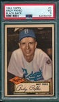1952 Topps #1 Andy Pafko PSA 3 *Black*
