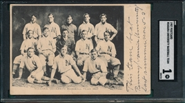 1907 Niagara University Baseball Team, PC, SGC 1