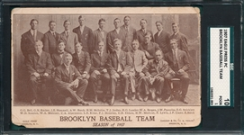 1907 Brooklyn Baseball Team, Eagle Press PC, SGC 10