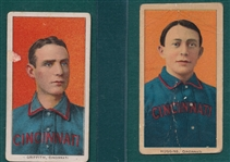 1909-1911 T206 Huggins & Griffith, Sovereign, Portraits, Lot of (2)