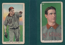 1909-1911 T206 Bresnahan, Portrait, & Waddell, Pitching, Lot of (2)