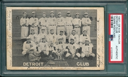 1907-09 H. M. Taylor PC, Detroit Club W/ Ty Cobb, PSA Authentic