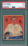 1934 Goudey #12 Carl Hubbell PSA 1.5