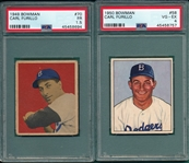 1949/50 Bowman Carl Furillo, Lot of (2) PSA *Rookie*