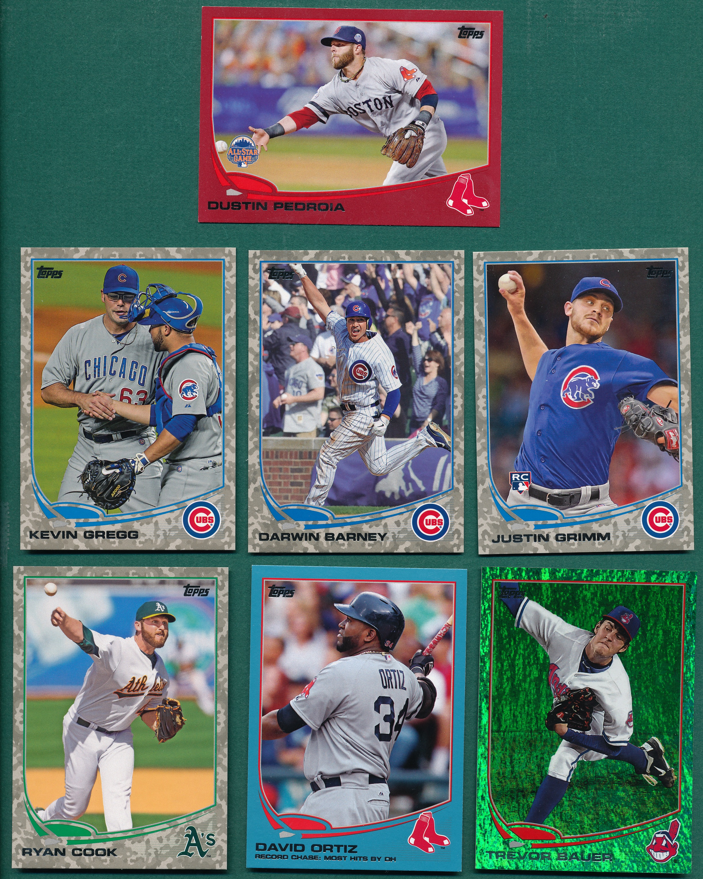 2013 Topps Update Colored Parallels, Walmart