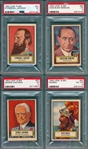 1952 Topps Look NSee Lot of (4) W/ #40 Stonewall Jackson PSA