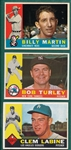 1960 Topps Lot of (92) W/ #173 Billy Martin *Crease Free*
