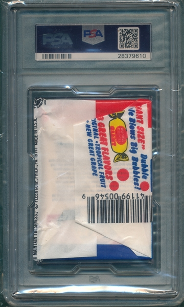 1986 Fleer Basketball Unopened Pack PSA 8