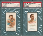 1887 N28 Oarsmen, Allen & Ginter Cigarettesl Lot of (5) W/ Beach PSA 6 (MK)