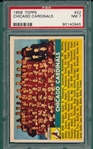 1956 Topps FB #022 Cardinals Team PSA 7