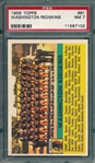 1956 Topps FB #61 Redskins Team PSA 7