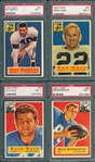 1956 Topps FB Lot of (4) W/ #29 Kyle Rote PSA 7