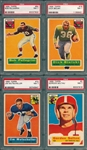 1956 Topps FB Lot of (4) W/ #64 Pellegrini PSA 7