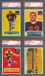 1956 Topps FB Lot of (4) W/ #114 Rams Team PSA 7