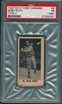 1927 E210-2 #6 Babe Ruth, Pitching, York Caramel Co. PSA 1 (MK)