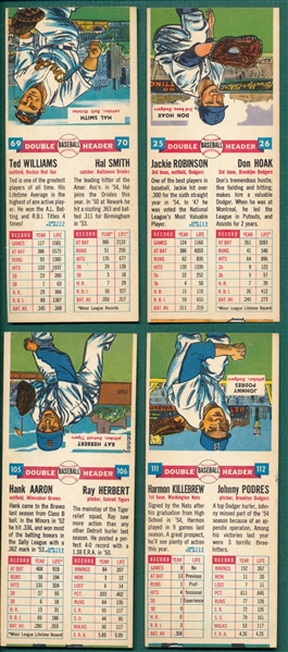 1955 Topps Double headers Complete Set (66) *No Fold Line*