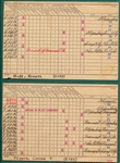 1930s MLB Player Record Cards Lot of (3)