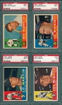 1960 Topps Lot of (4) W/ #527 Valdivielso PSA 7