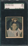 1951 Berk Ross 4-5 Whitey Ford SGC 80 *Rookie*