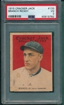 1915 Cracker Jack #133 Branch Rickey PSA 3