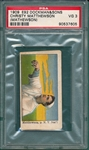 1909 E92 Christy Matthewson, Dockman & Sons PSA 3