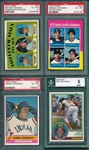 1972-1983 Topps Lot of (4) HOF Rookies W/ 1972 Fisk PSA