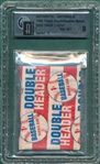 1955 Topps Double Header Baseball Unopened Pack GAI 8 *Hank Aaron*