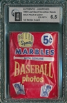 1960 Leaf Sport Novelties Baseball Unopened Wax Pack GAI 6.5