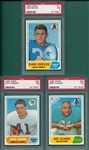 1968 Topps FB Lot of (7) W/ #77 Reeves PSA 7