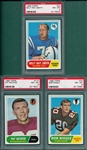 1968 Topps FB Lot of (7) W/ #167 Duncan PSA 8