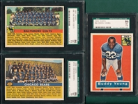 1956 Topps FB Lot of (3) W/ #96 Young SGC 86
