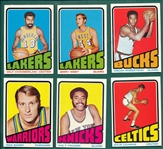 1972 Topps BSKT Partial Set (217/266) W/ Chamberlin