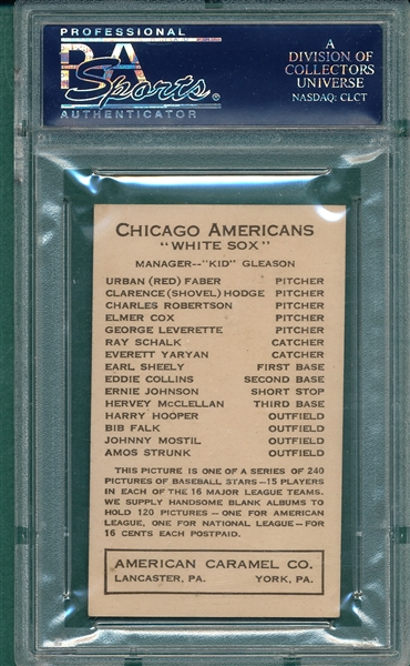 1922 E120 Eddie Collins American Caramel Co. PSA 7 *Highest Graded*