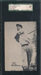 1947 Bond Bread Ted Williams SGC 88 *Exhibit Size*