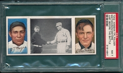 1912 T202 Just Before The Battle, Meyers/Mathewson, Hassan Cigarettes PSA 7