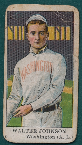 1909 E91 Walter Johnson, American Caramel Co.