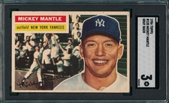 1956 Topps #135 Mickey Mantle SGC 3 *Gray*