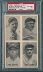 1929-30 Exhibits 4 On 1 W/ Hoyt, Coombs & Lazzeri, PSA 4.5 *PC Back*